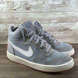 Nike Court Borough Mid Gray White Hi Top Sneaker